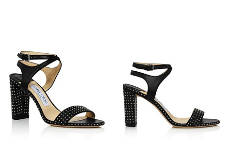 Jimmy Choo Women's Marine 85 Micro-Studded Leather High Heel Sandals - Bloomingdale's_2